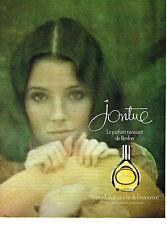 PUBLICITE ADVERTISING 044   1976  REVLON  parfum JONTUE