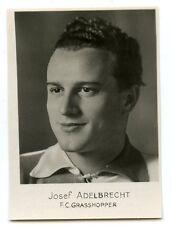 PHOTO SPORT AU FORMAT 7 cm x 5 cm FOOTBALL FC GRASSHOPPER / JOSEF ADELBRECHT