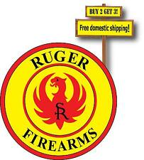 Ruger Fire Arms LOGO Vinyl Defense Guns Weapons Full Color Decal Sticker p45