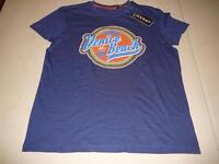 NEU Livergy tolles T-Shirt Gr. M 48 / 50 blau mit orangenem Druckmotiv !!