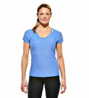 Reebok RF Optimal Womens Blue Tee T Shirt Fitness Gym Top Size: Medium