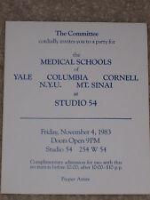 STUDIO 54 - THE MEDICAL SCHOOLS PARTY INVITATION