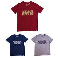 Penguin Boys T-Shirt Original Penguin Navy Grey Red 7-8Y 8-9Y 10-11Y or 12-13Y