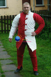 Medieval Outfit Clothing plane sca/Hema Dress Reenactment Knight Armor Gambeson