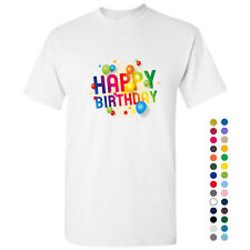Happy Birthday 3D Party Balloon Regular Men Basic T Shirt Tee Top S - 5XL Cotton