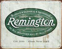 "Remington Rustic Retro Vintage Tin Sign , 12.5"" X 16"""