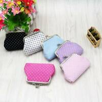 Women Girls Polka Dot Owl Animal Small Wallet Coin Purse Hasp Clutch Change Bag