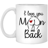 I Love You To The Moon And Back White Coffee Mug
