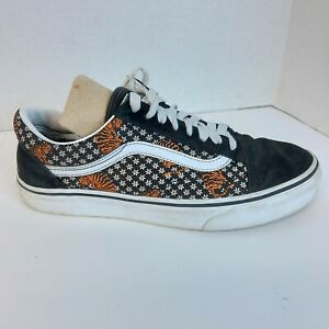 Vans Womens 8 Old Skool Tiger Floral Fashion Sneakers Black White VN0A38G119M