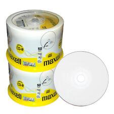 100x Maxell CD-R Rohlinge 52x bedruckbar fullface wide printable inkjet 80Min.