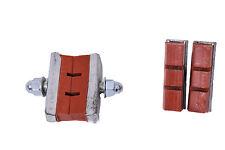 SET OF 4 DIA COMPE STYLE BRICK RED (BROWN) BMX BRAKE PADS BRAKE BLOCKS 80's MADE
