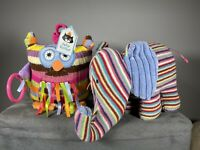 New Jellycat Owl And Used Elephant Soft Toys Activity Sensory Pram Toy Rattles