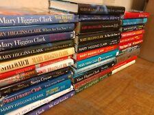Lot of 10 Mary Higgins Clark Mystery Suspense Thriller Novel Hardcover Books MIX