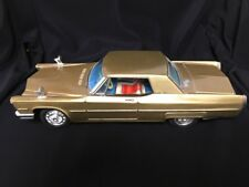 Vintage 1960 Gold Bandai Cadillac Tin Toy Car