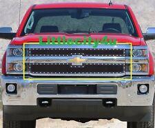 FOR 15 -16 Chevy Silverado 2500 3500HD Black Wire Mesh Rivet Studs Grille Insert