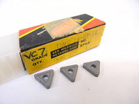 NEW SURPLUS 10PCS. VALENITE  TNMG 324  GRADE: VC7  CARBIDE INSERTS