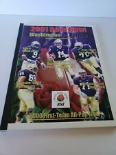 2001 Rosebowl Media Guide Washington Huskies Marques Tuiasosopo Cover