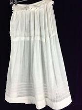 C 1910 Sheer Cotton Skirt Edwardian