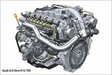 "Audi R8 V12 Engine Supercar Poster Art Print 24"" x 16"""