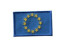 """#5123 European Union Flag Embroidery Iron On Patch-Small 1 3/4"""""""