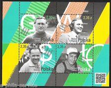 POLAND - POLEN - POLSKA Fi BLOK 232  Mi BLOCK 227 Prominent Polish trainers MNH