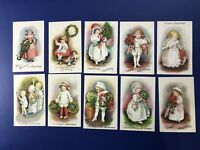 Christmas 10 E. Clapsaddle Antique Postcards. Wolf # 25. Collector Items w Value