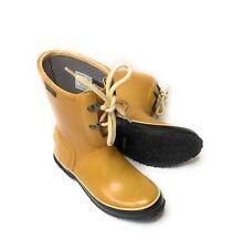 BOGS Urban Farmer Women's Waterproof 2 Eyelet Lace Up Rain Yellow Boots Sz 6 37