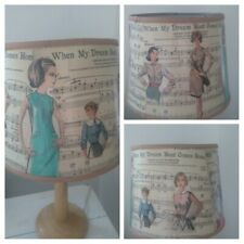 Medium Vintage Sewing Pattern & Sheet Music Lampshade - Lamp Shade