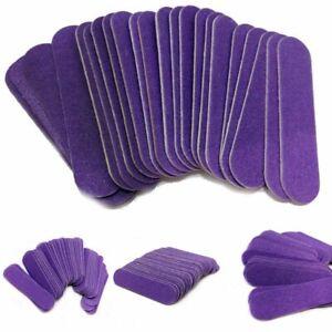 Mini Wood Nail Files 100pcs Lot Manicure Pedicure Tools Care Disposable Sanding