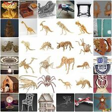 36+ DXF files COLLECTION 3D PUZZLE for CNC ROUTER & LASER CUTTING