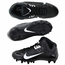 cheap for discount 04ccc 805c1 Nike Mens Size 10 Alpha Strike 3 4 TD Black Football Cleats Lacrosse