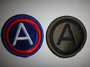 Set États-Unis 3rd Troisième Armée Couleur Et Attenué Correctifs non Utilisé