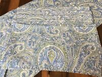 """April Cornell Table Runner with 8 Cloth Napkins Blue Paisley Cotton Fabric 68"""""""