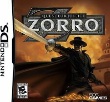 NEW DS, DSI, DS, 2DS Game Works in 3DS  ZORRO QUEST FOR JUSTICE    MAKE AN OFFER
