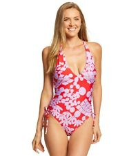 NWT Trina Turk Bali Blossoms High Leg Maillot One-Piece Swimsuit 10 $154