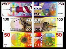 2x 50, 100, 250 Gulden - Ausgabe 1977 - 1985 - Reproduktion - 002
