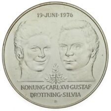 More details for sweden. 50 kronor 1976 'wedding carl xvi and sylvia' uncirculated condition