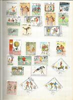 Fussball Lot Briefmarken Sellos Stamps Timbres