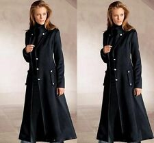 Womens Dust Coats Full Length Long Slim Fit Wool Trench Jacket Wind Clothes HOT