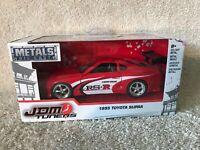 JADA Toys 1:32 Scale JDM Tuners Red 1995 Toyota Supra Red NIB VHTF!