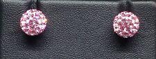Plata esterlina 925 Shambala austríaco Cristal Pendientes Rosa vendedor ref 602