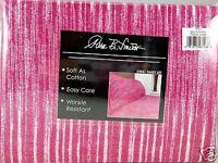 Queen Sheet Set Raspberry Pink Textured Striped Pattern 4 piece Soft New