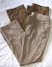 Old Navy Mid Rise Bootcut Khaki Pants (Lot of 2) 14 Petite Stretch PERFECT