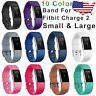 Replacement Wristband For Fitbit Charge 2 Band Silicone Fitness Small / Large