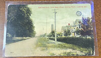 CRISFIELD MD || Maryland Ave from Main Street looking North || Vintage Postcard