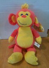 Sugar Loaf Toys plush pink & yellow monkey