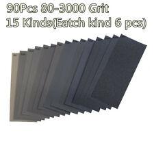 90 Pcs Sandpaper 400 To 3000 Grit Wet Dry Assortment 9x3.6Inch Automotive Sand