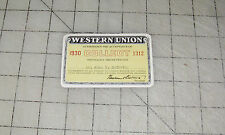 "1930 WESTERN UNION ""Collect"" ID Card John T. McCarthy"