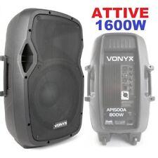 """CASSE ACUSTICHE AMPLIFICATE ATTIVE 1600w 15"""" (38 cm) diffusori altoparlanti"""