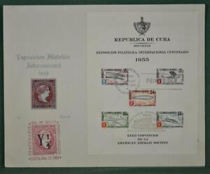 SPANISH CARIBBEAN STAMP COVER 1955 PHILATELIC EXHIBITION    (F101)